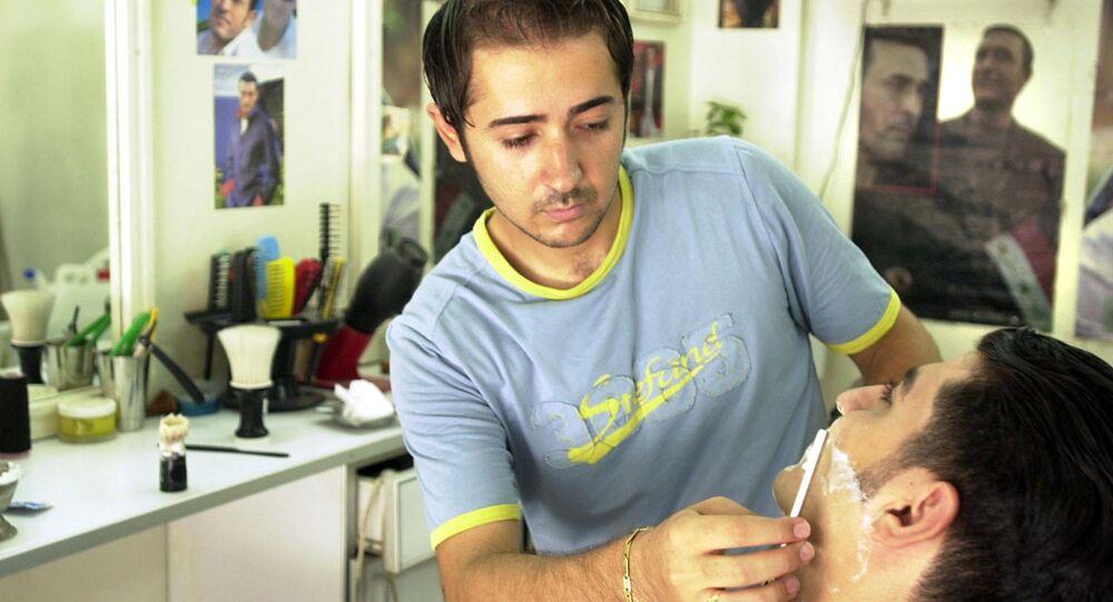 Barbeiro na cidade de Damasco, Síria