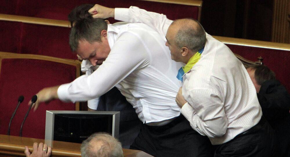 Briga na Suprema Rada da Ucrânia