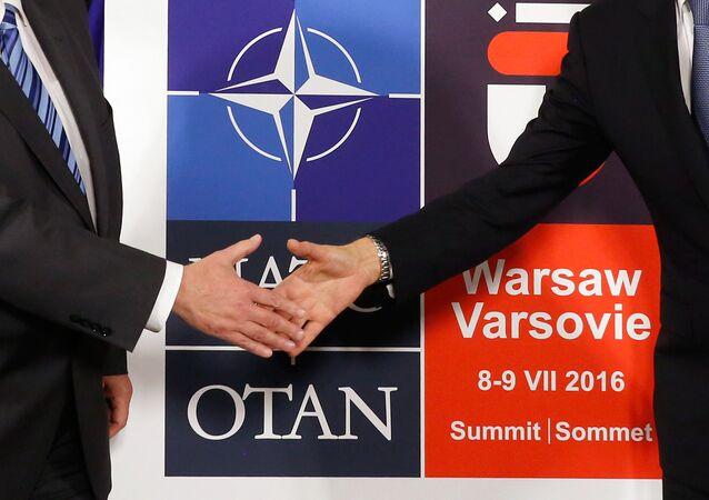 Logo da próxima cúpula da OTAN em Varsóvia em junho de 2016