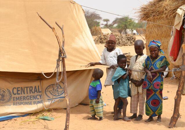 Refugiados nigerianos em Mainé-Soroa, no Níger