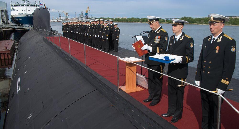 O primeiro submarino multifuncional Yasen SSBN entra no serviço da Marinha russa (imagem do arquivo)