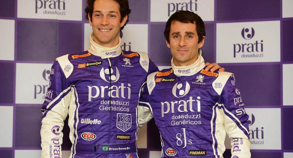 Bruno Senna e Nicolas Prost.