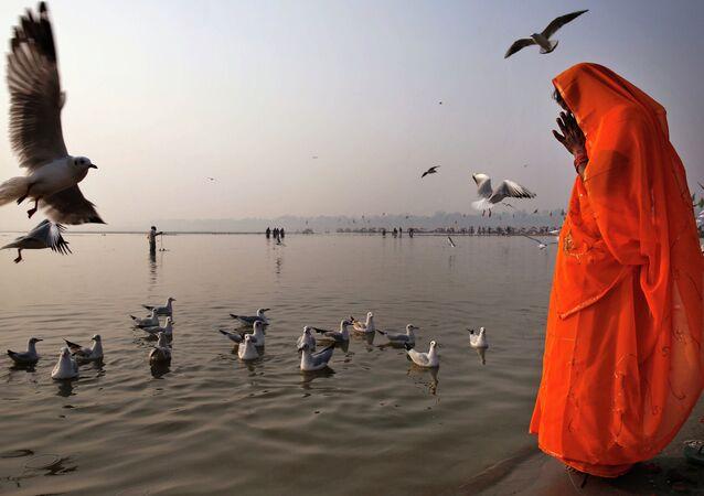 Rio Ganges, Allahabad, Índia