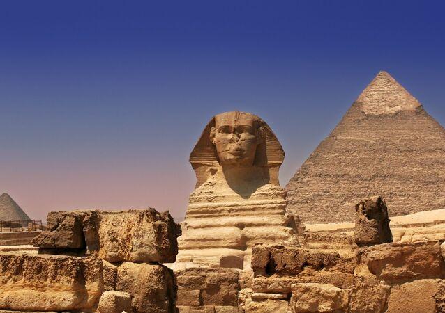 Grande Esfinge de Gizé no Egito