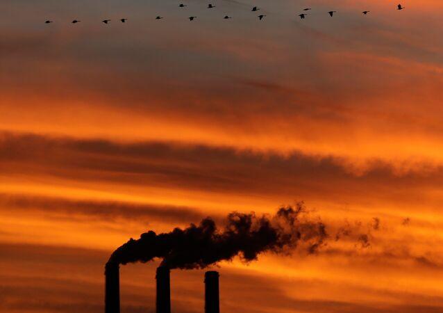 Fábrica de carvão Jeffrey Energy Center, na cidade americana de Emmett, Kansas