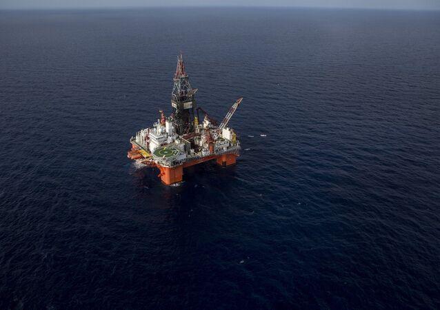 Plataforma de petróleo no mar de Veracruz, no México