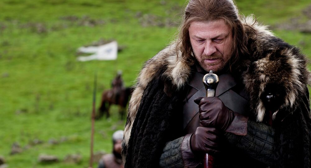 In this publicity image released by HBO, Sean Bean portrays Eddard Stark in a scene from the HBO series, Game of Thrones. The series was nominated for an Emmy award for best drama series on Thursday, July 14, 2011.