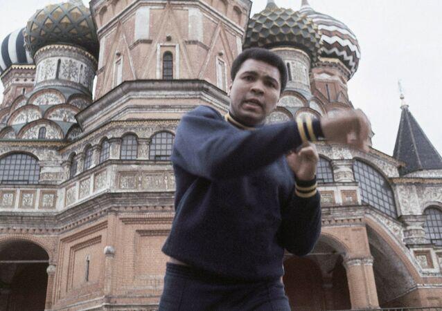 Muhammad Ali em visita a Moscou em junho de 1978