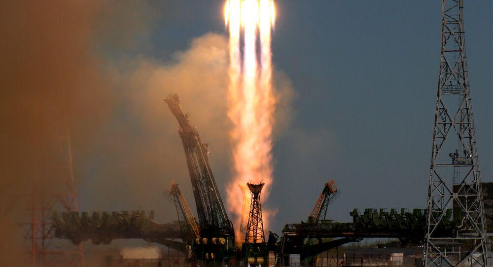 19 de abril, 2013. O primeiro lançamento da sonda espacial Bion-M usando um foguete portador Soyuz-2.1a