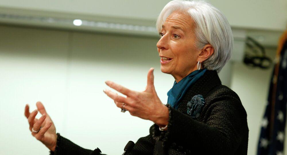 A diretora de FMI, Christine Lagarde