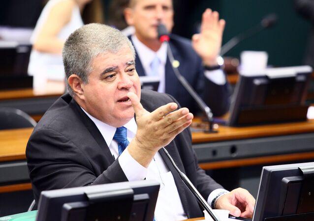 Deputado Carlos Marun, do PMDB/MS, em reunião do Conselho de Ética
