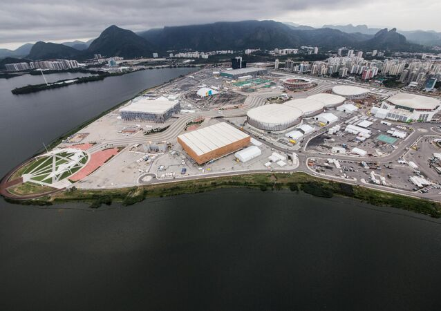 Aérea do Parque Olímpico do Rio