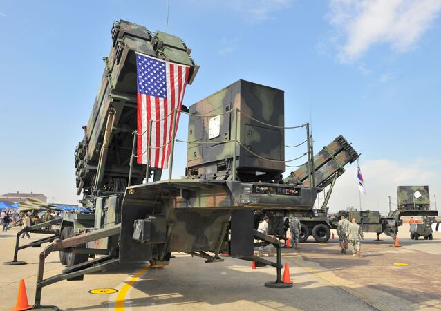 Sistema de mísseis americano.