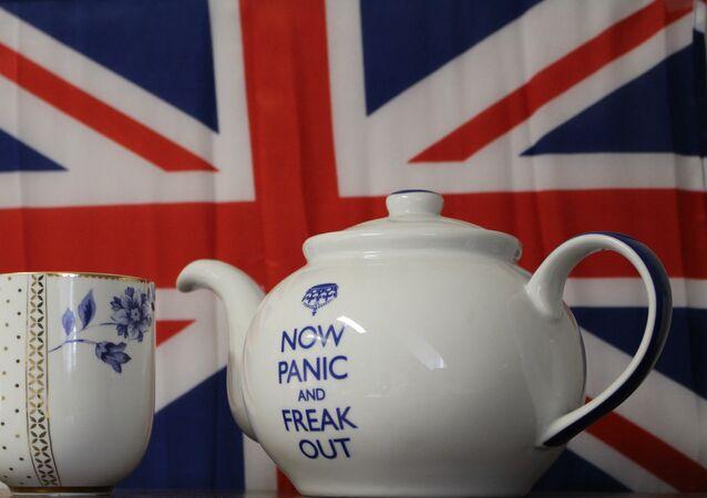 A bandeira do Reino Unida depois do Brexit