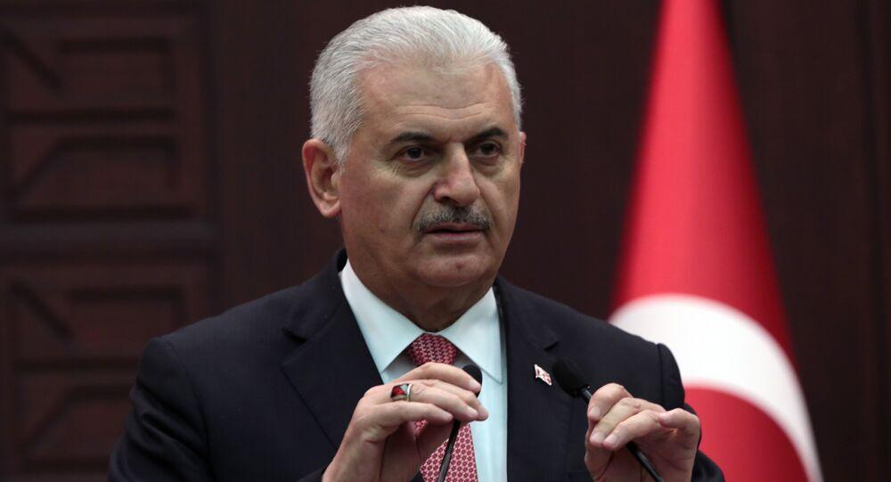 O primeiro-ministro da Turquia Binali Yildirim