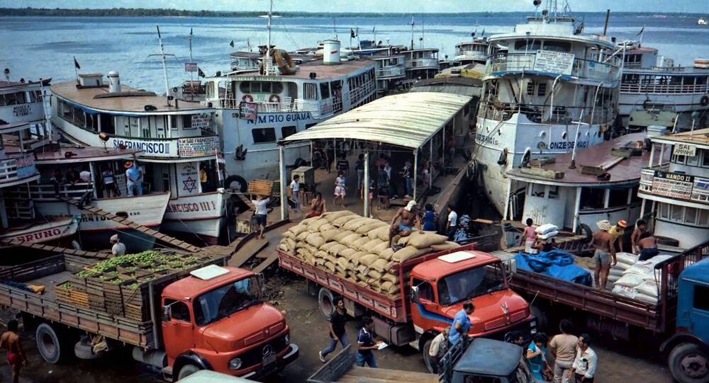 Porto de Manaus, setembro, 19, 2013