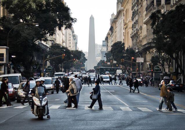 O centro da cidade de Buenos Aires