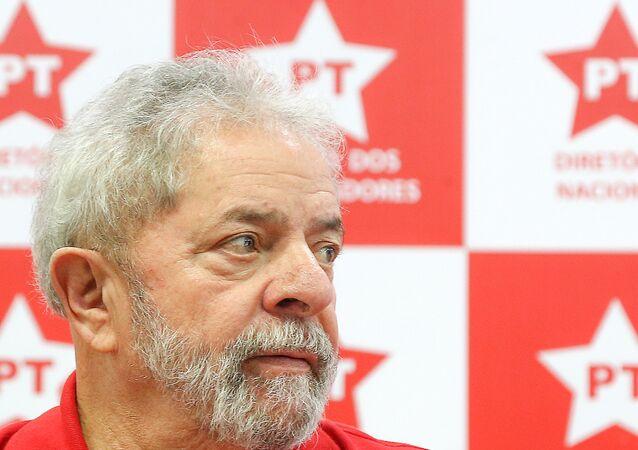Ex-presidente Lula na sede nacional do PT em São Paulo