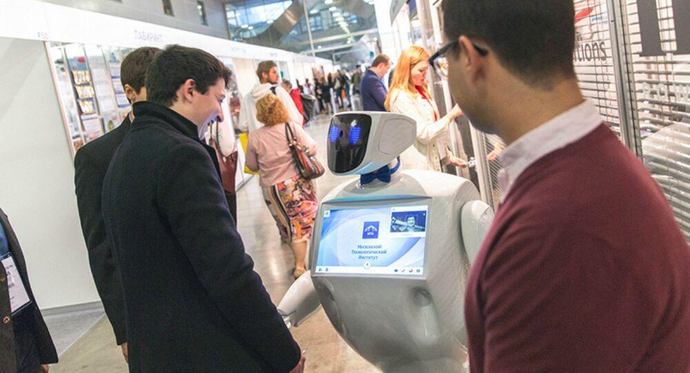 O novo robô-guia russo Alan Tim