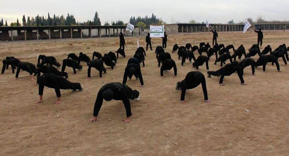 Militantes do grupo rebelde sírio Ahrar al-Sham