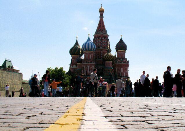 A Praça Vermelha de Moscou, Rússia