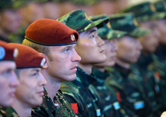 """Inauguração dos exercícios táticos conjuntos das forças especiais da Guarda Nacional da Rússia e da Polícia Armada do Povo da China (PAP) """"Cooperação-2016"""""""