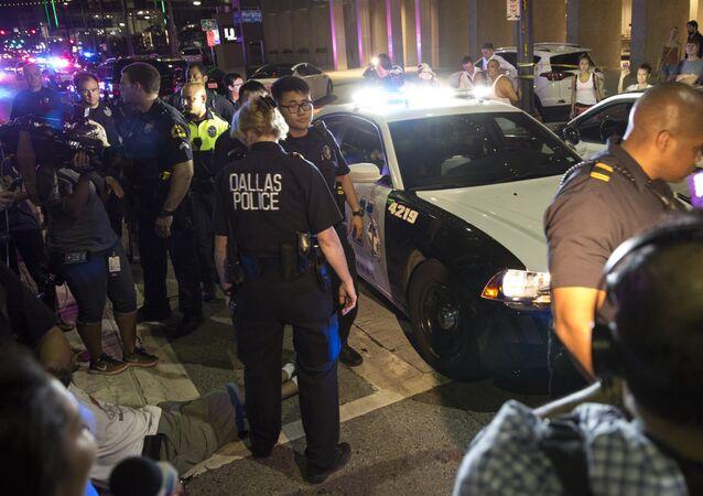A polícia de Dallas está realizando uma extensa operação da área do centro da cidade.