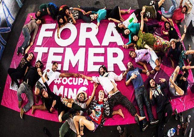 Movimento #OcupaMinC Rio no Palácio Gustavo Capanema