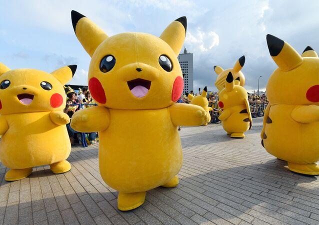 Pikachu, personagem mais conhecido da franquia Pokémon