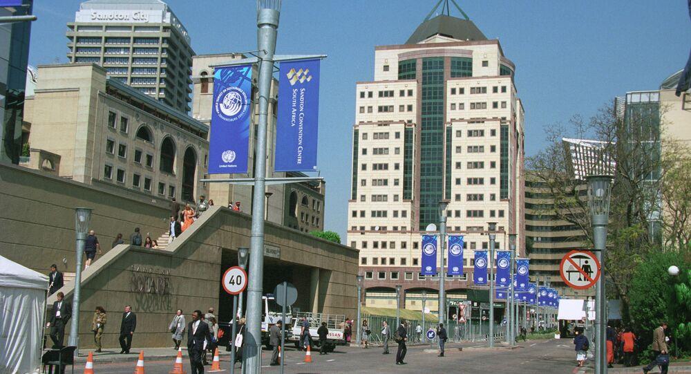 Uma rua no centro de Joanesburgo (foto de arquivo)