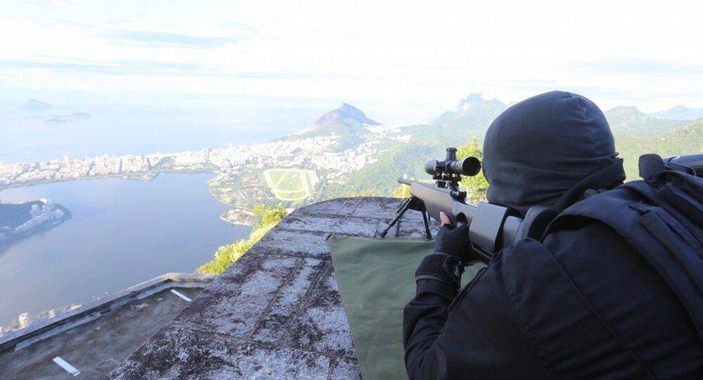 Polícia em treinamento para os Jogos Rio 2016