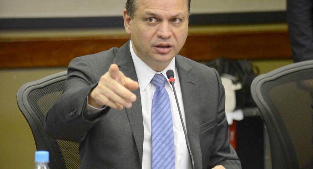 Ministro da Saúde Ricardo Barros no lançamento do Centro Integrado de Operações Conjuntas de Saúde para os Jogos Olímpicos e Paralímpicos Rio 2016.