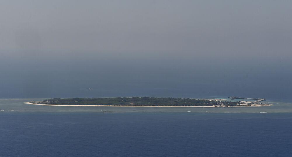 As ilhas Nansha (Spratly) no mar do Sul da China