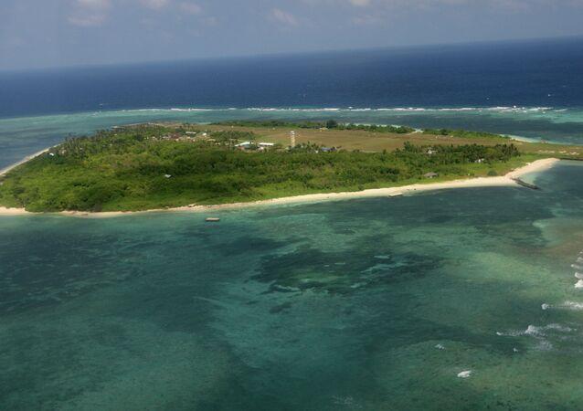 Ilha Thitu do arquipélago Spratly no Mar do Sul da China