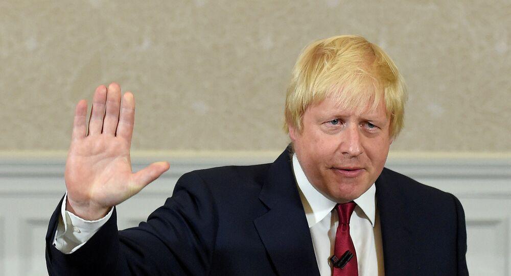 Boris Johnson, novo Ministro das Relações Exteriores da Grã-Bretanha