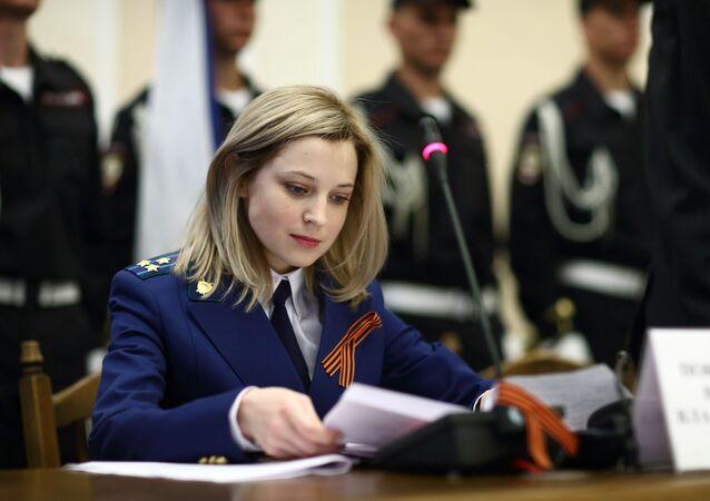 Natalia Poklonskaya na promotoria da Crimeia