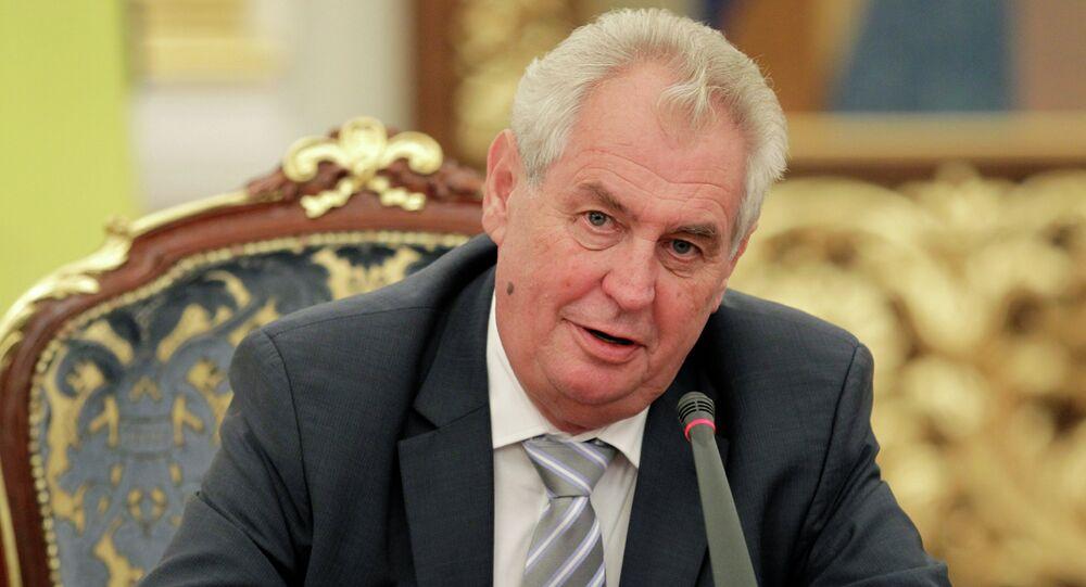 O presidente da República Tcheca, Milos Zeman