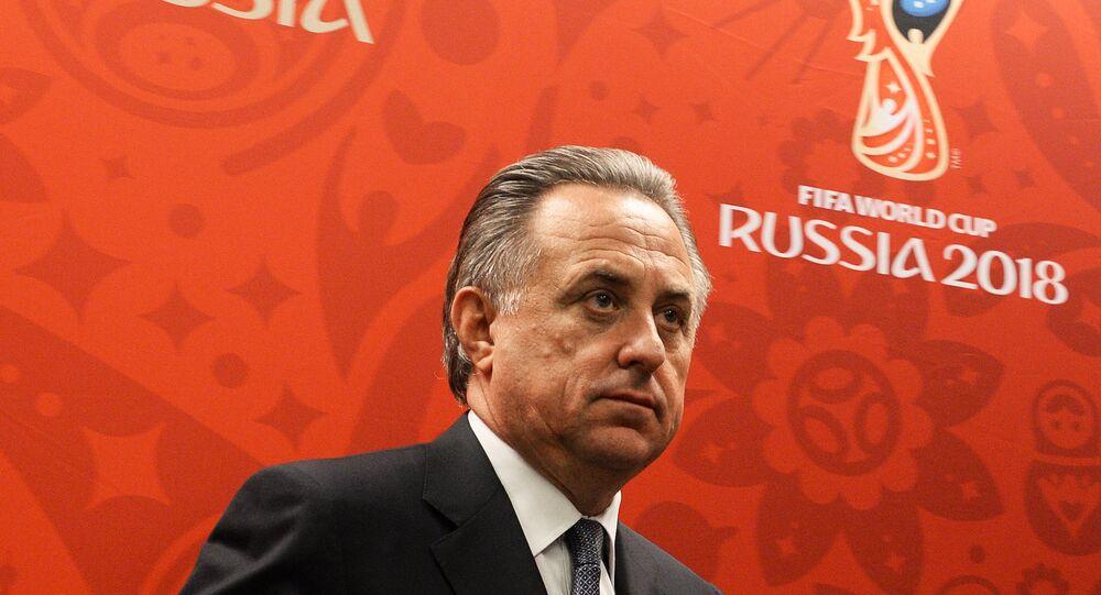 Vitaly Mutko, vice-primeiro-ministro russo e chefe da União de Futebol da Rússia