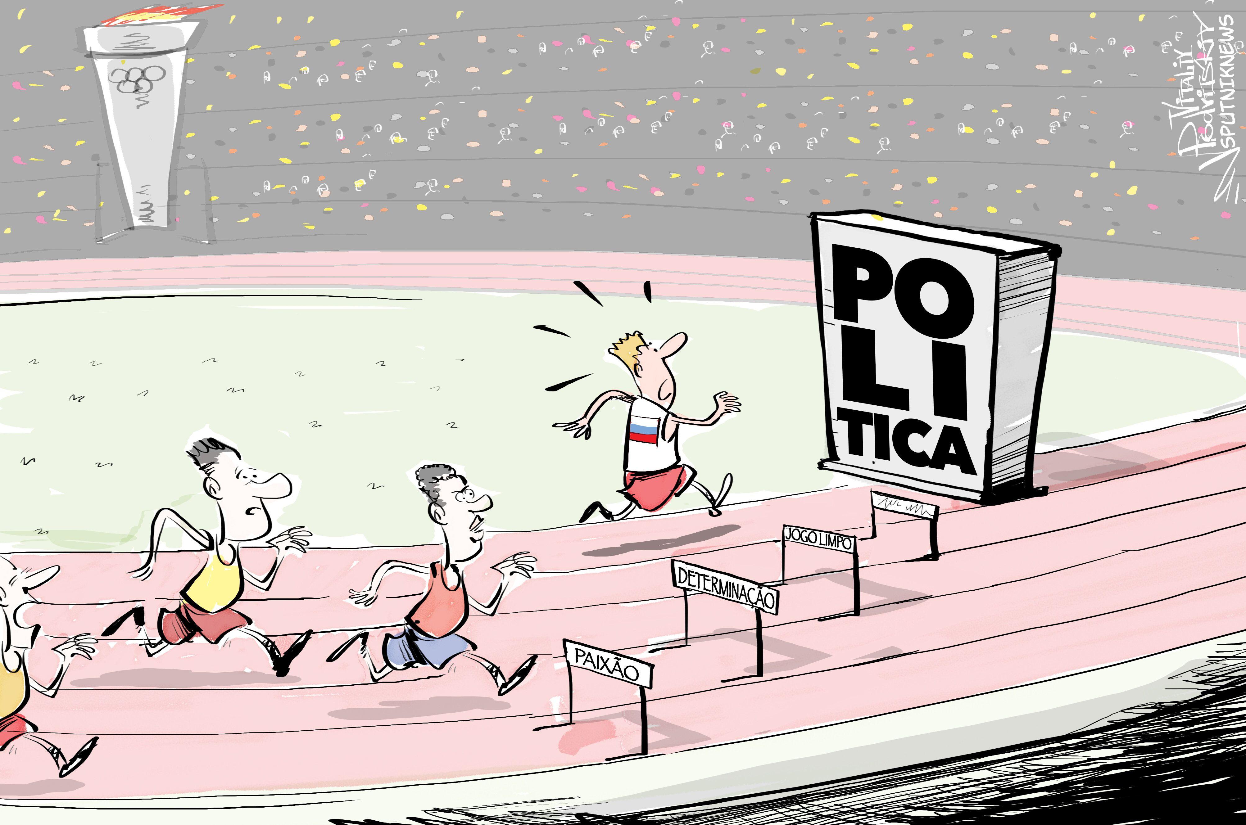 Atletas russos encontram obstáculos fora do comum a caminho do pódio