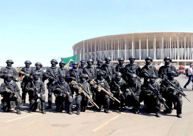 Militares preparados para os Jogos Rio 2016
