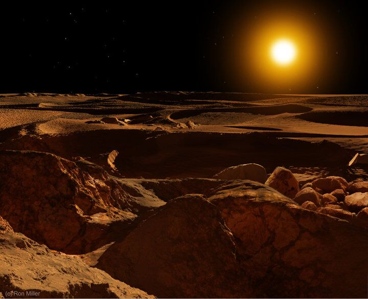 O nascer do sol em Mercúrio é pelo menos nove vezes mais brilhante do que na Terra.