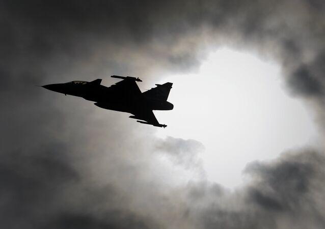 Caça JAS 39 Gripen da Força Aérea da Suécia
