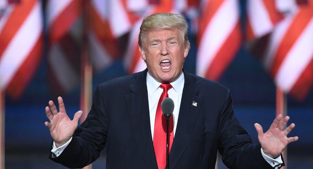 Candidato à presidência norte-americana Donald Trump