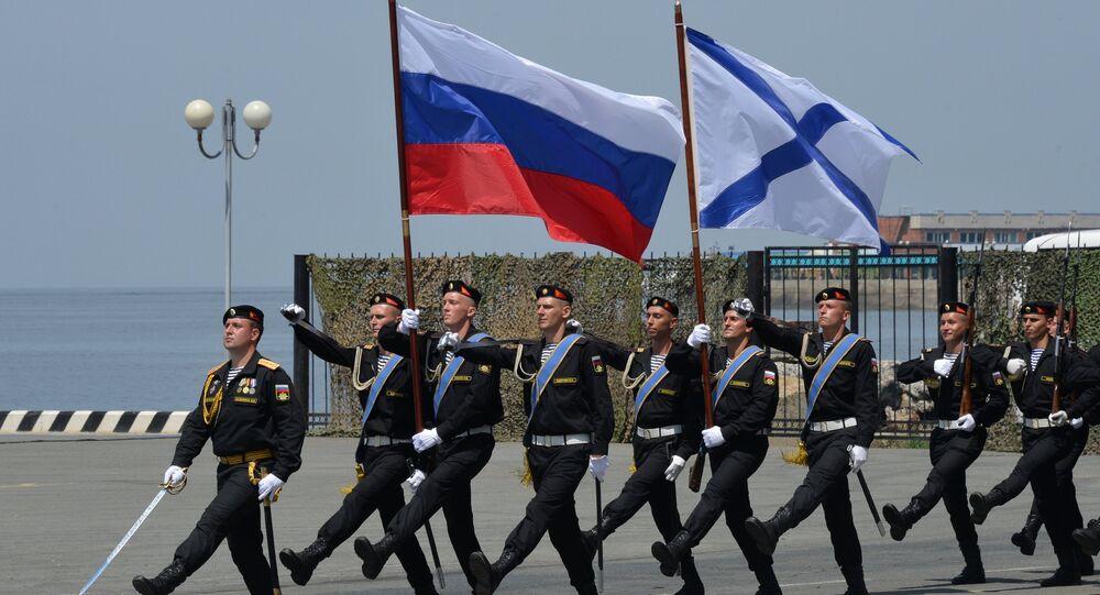 Militares da Marinha, durante a celebração do Dia da Marinha