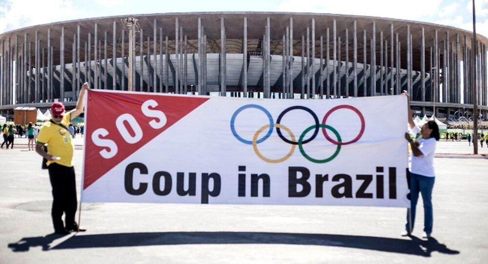 Protesto contra impeachment em Brasília