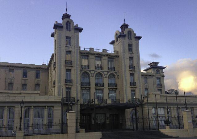 Edifício da sede do Mercosul, Montevideo, Uruguai, agosto de 2013