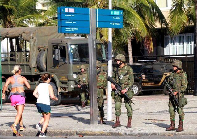 Forças Armadas assumem as ruas do Rio nos Jogos Olímpicos