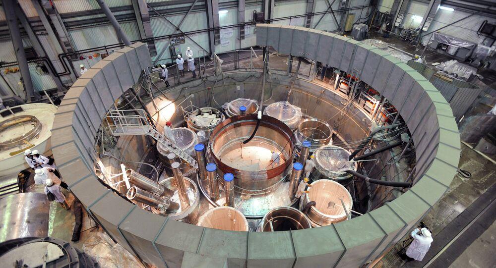 Construção do reator nuclear russo
