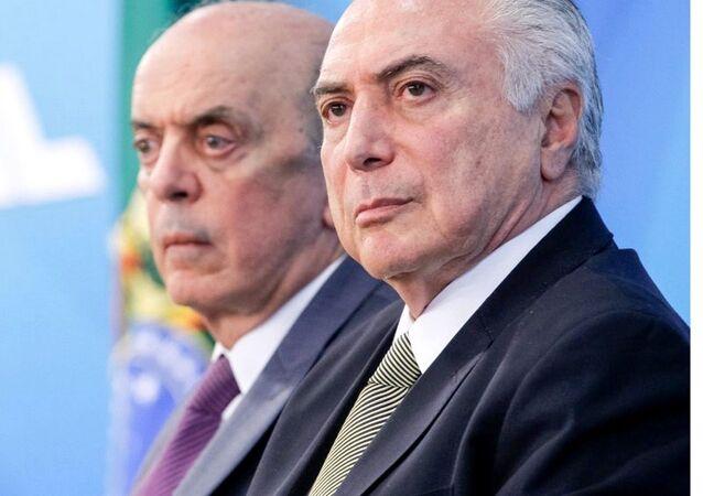 Ministro José Serra e presidente interino Michel Temer citados em denúncias de pagamento de caixa 2 da Odebrecht