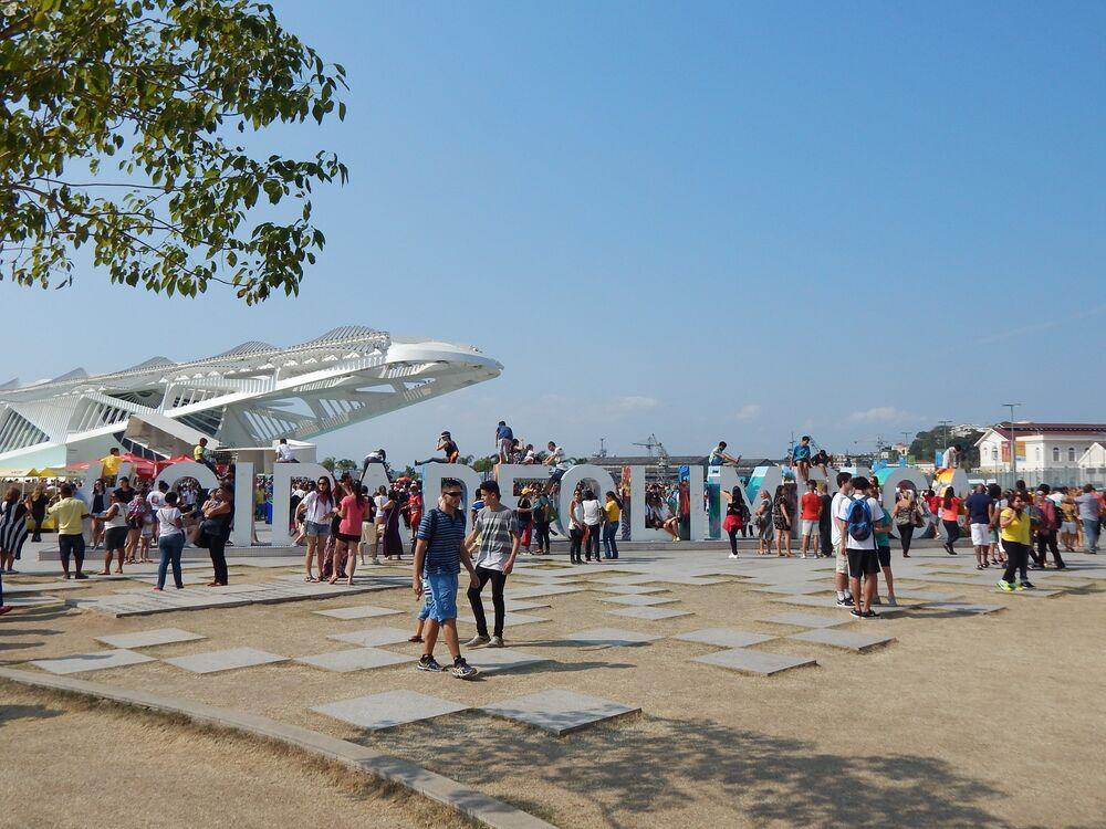 Cidade Olímpica com Museu do Amanhã ao fundo